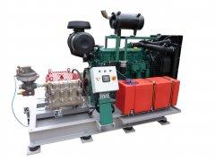 Feuerlöschanlage mit Dieselmotor Aggregat - Fire extinguishing system with diesel engine unit